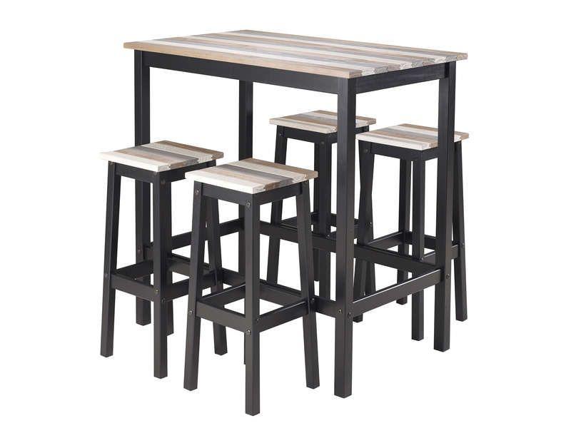 table haute 4 tabourets turner