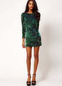 f9a3705aed vestido Bodycon lentejuelas-verde-Spanish SheIn(Sheinside)