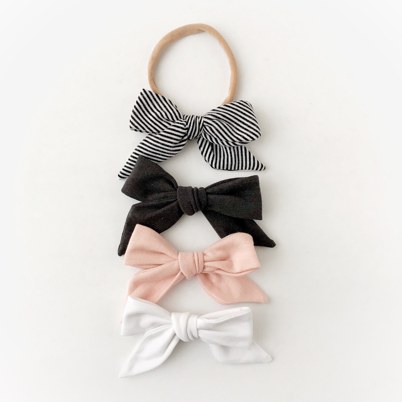 Photo of Baby girl headband, baby girl gift, baby headband, baby hair clips, newborn headband, baby girl, big bows, toddler clips, hair clips