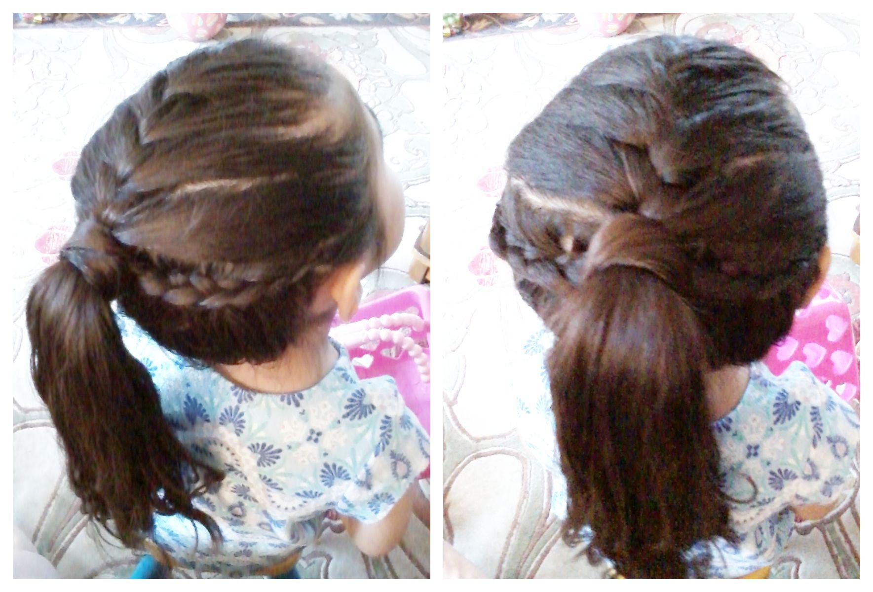 French Braid W 2 Lace Braids Into Ponytail Lace Braids Hair Styles Braided Ponytail