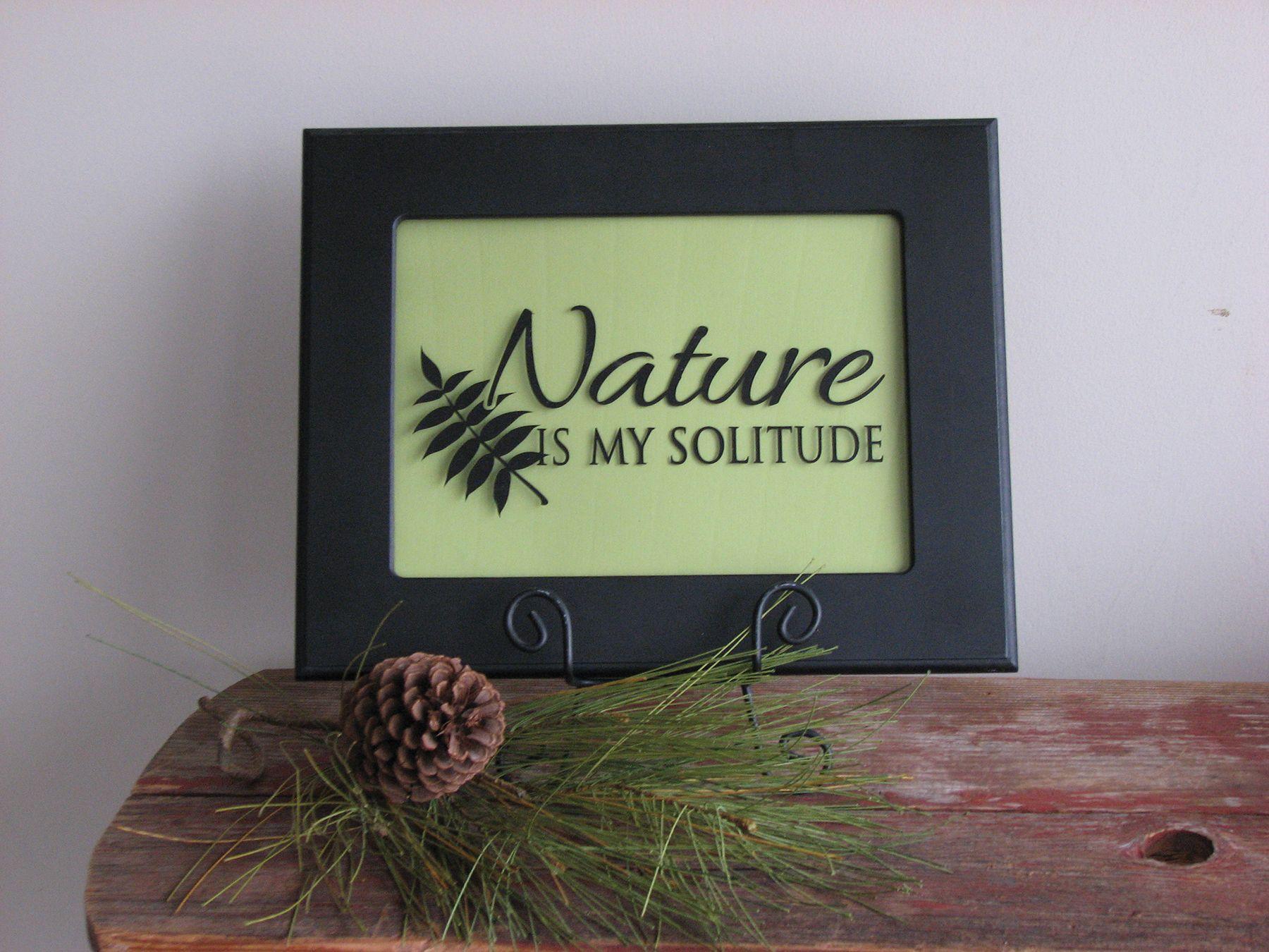 Nature Simply said