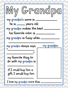 Grandparents Day Free Printables ~ The Frugal Sisters