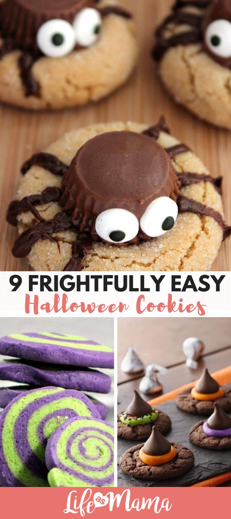 9 frightfully easy halloween cookies   mama's heart   pinterest