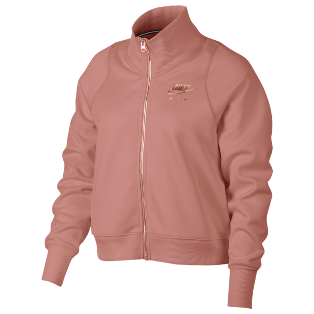 3cea2e336ba Nike Rose Gold Metallic Air Track Jacket - Women s