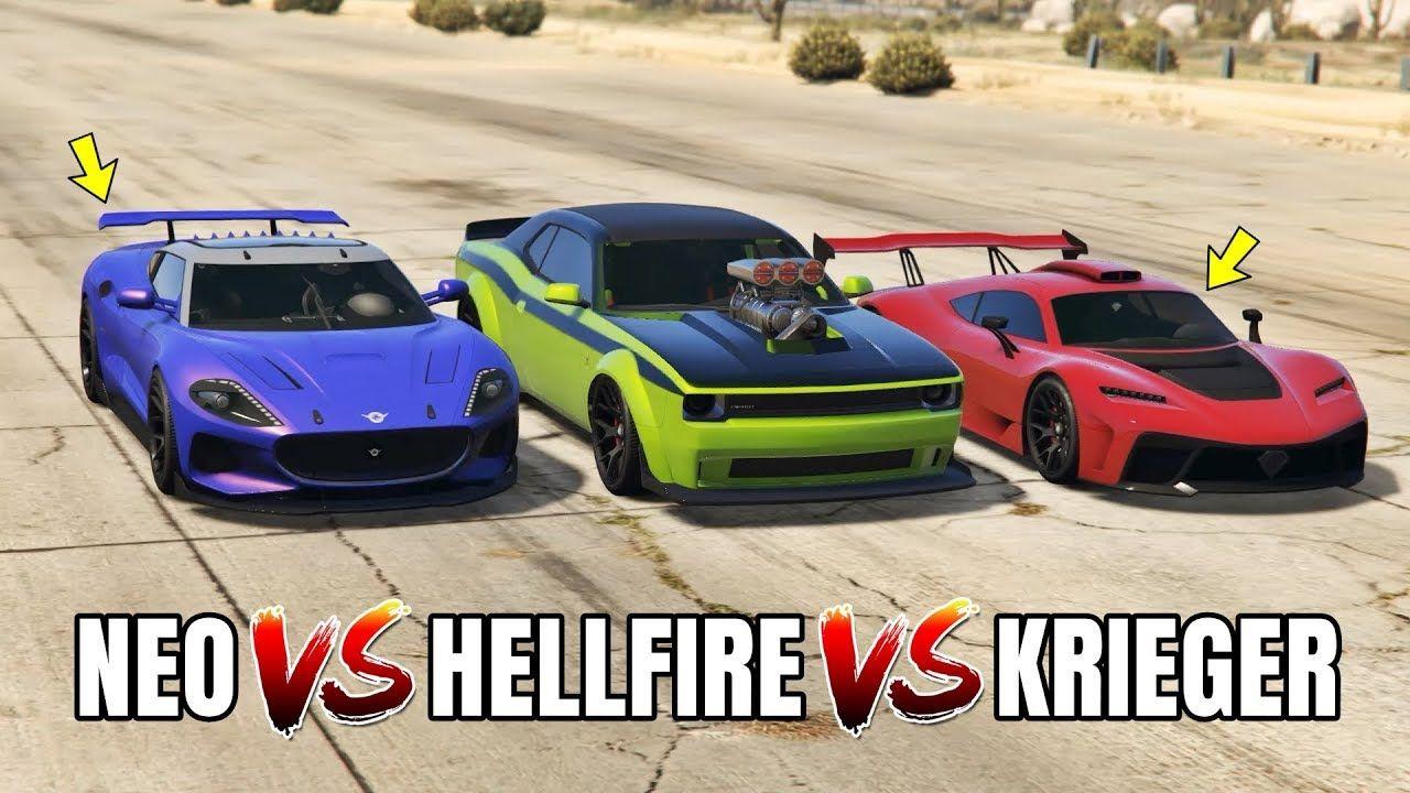 Gta 5 Online Krieger Vs Hellfire Vs Neo Which Is Fastest Gta Cars Super Cars Gta