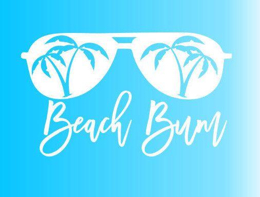 Beach Bum sunglasses  aviator palm trees SVG | Etsy