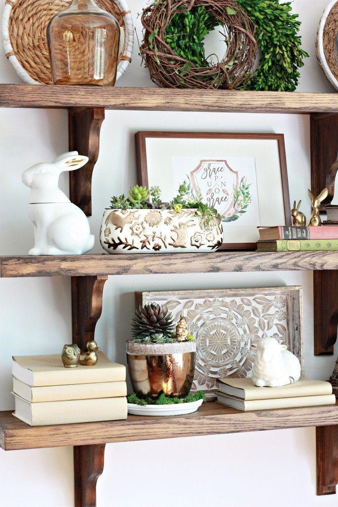 DIY Farmhouse Shelves Diy kitchen shelves, Home decor