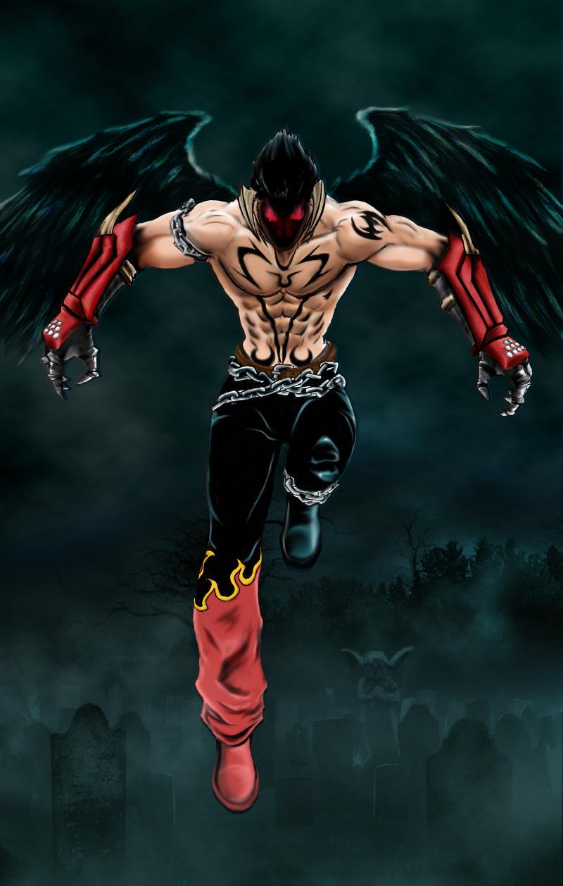 Devil Jin by KAZANGNZ.deviantart.com on @DeviantArt   Tekken, Street ...