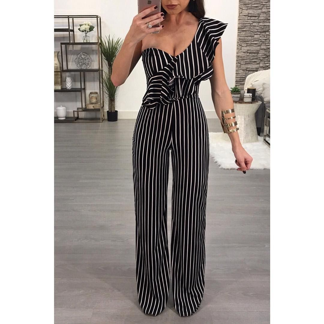 b6cc17edead5 Stripes done right 🖤 Cassie Jumpsuit | Outfits! Fashion! Style ...