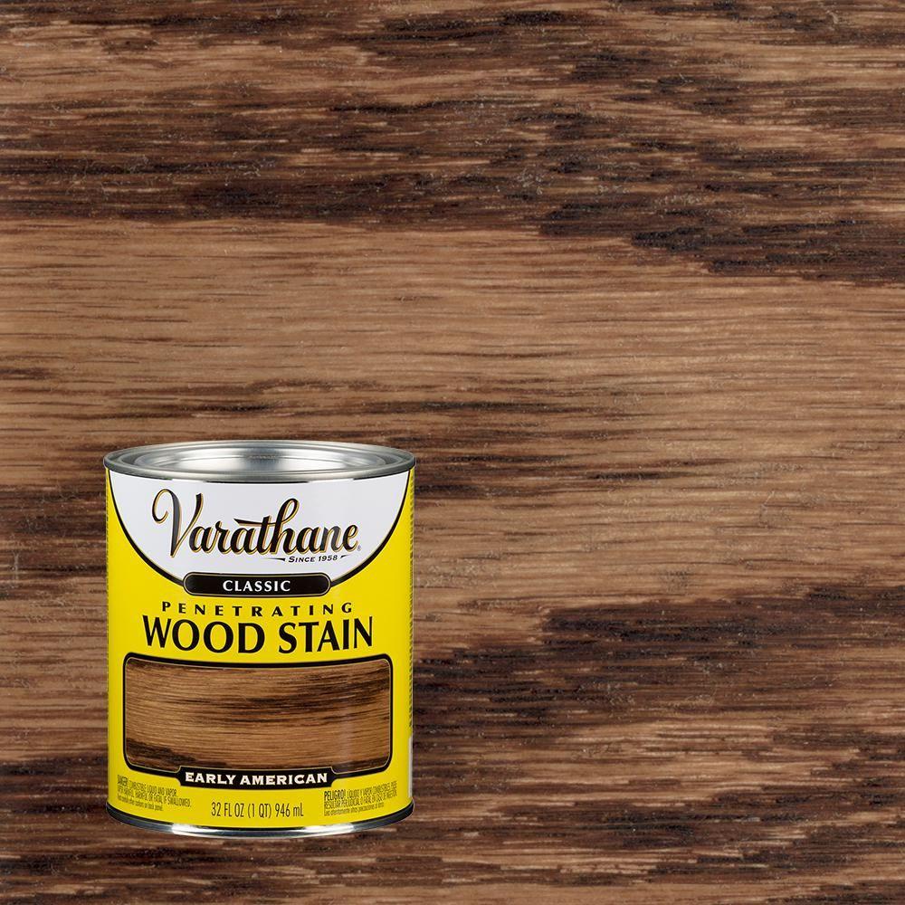 Varathane 1 Qt Early American Classic Wood Interior Stain 2 Pack 339710 Interior Wood Stain Staining Wood Wood Interiors