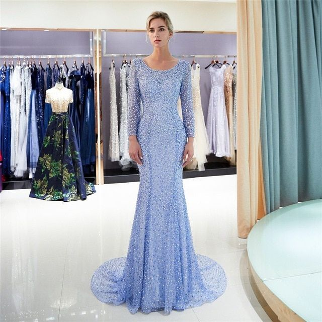0a6d1e1700 Open Back Lebanon Formal Dresses Gold Evening Gown Long Sleeve Luxury  Evening Dress Bead Gown Maxi Vestido Saudi Arabia  eveningdresses   eveningdress ...