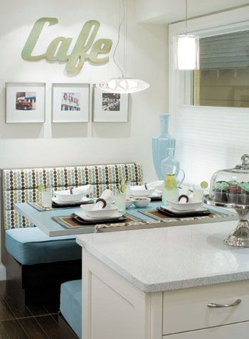 kitchen booths target table and chairs candice olson s divine design retro redo elle decor