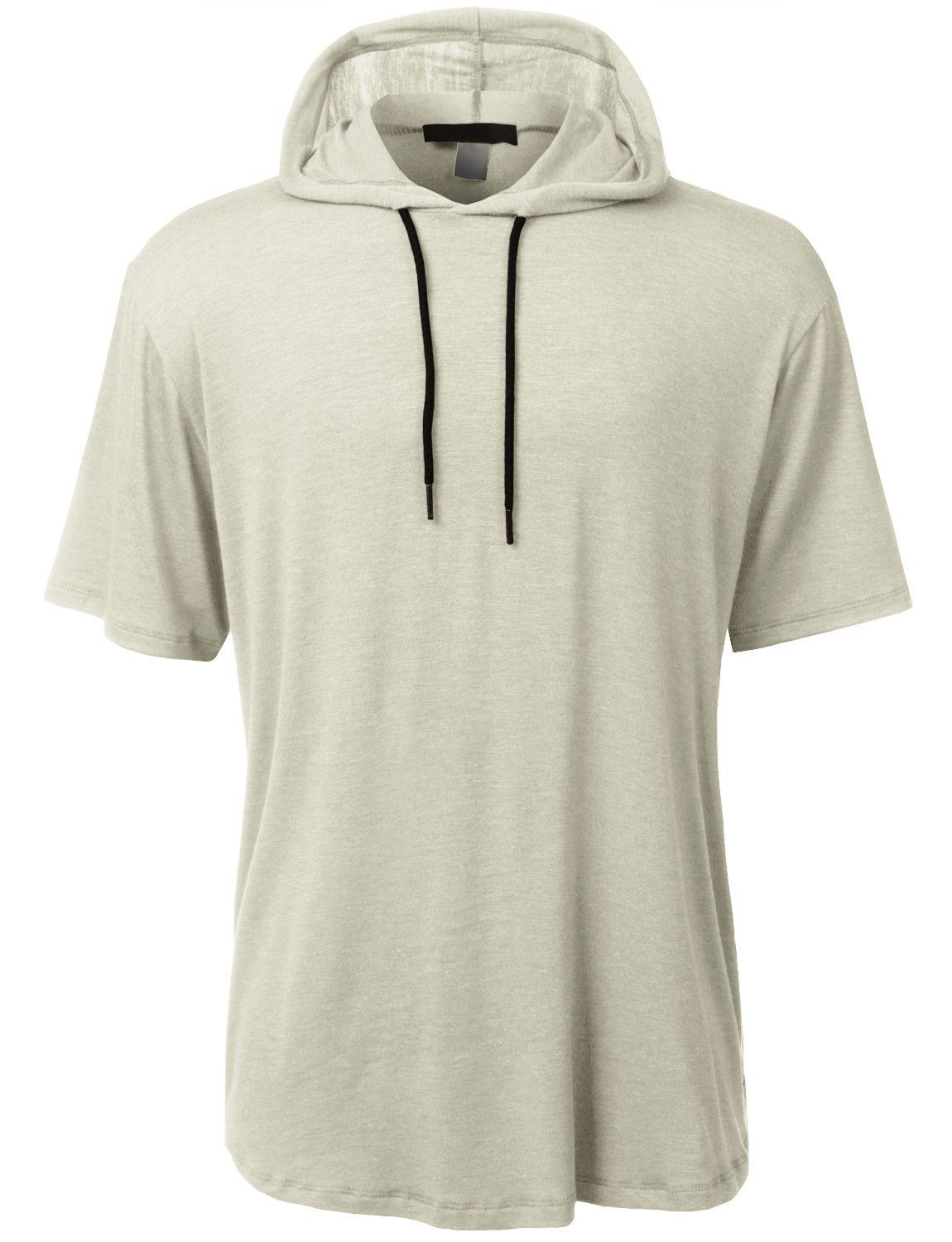 Mens Lightweight Hipster Short Sleeve Hoodie Shirt (CLEARANCE ...