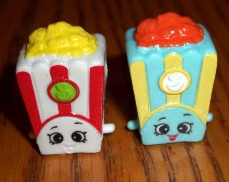 POPPY CORN Red White Blue Yellow Popcorn Shopkins Season 2 Lot Mint! Moose  Toys #Shopkins #PoppyCorn