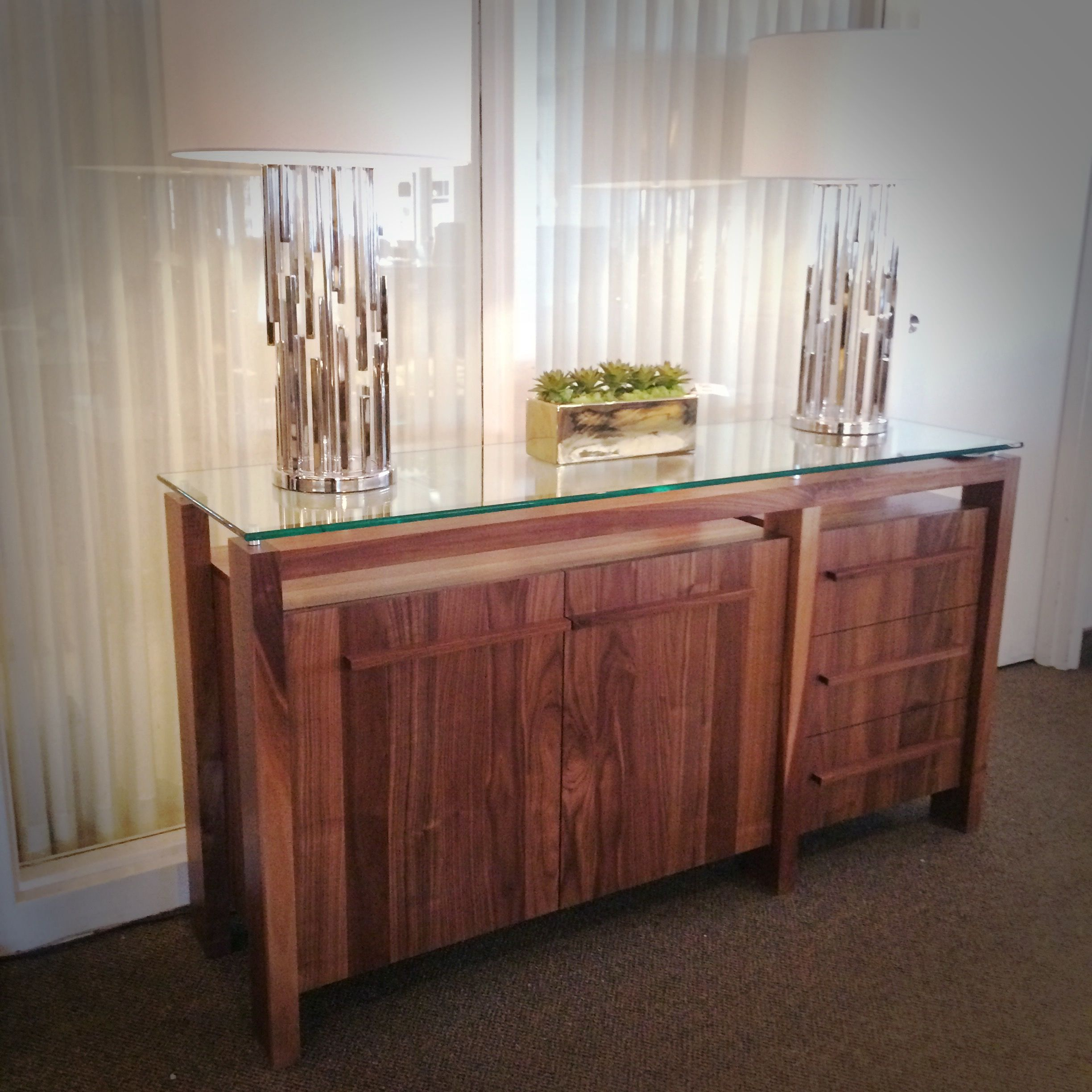 Canadian Made By VerBois Furniture ZIG Buffet In Natural Walnut Available A Variety Dining Room