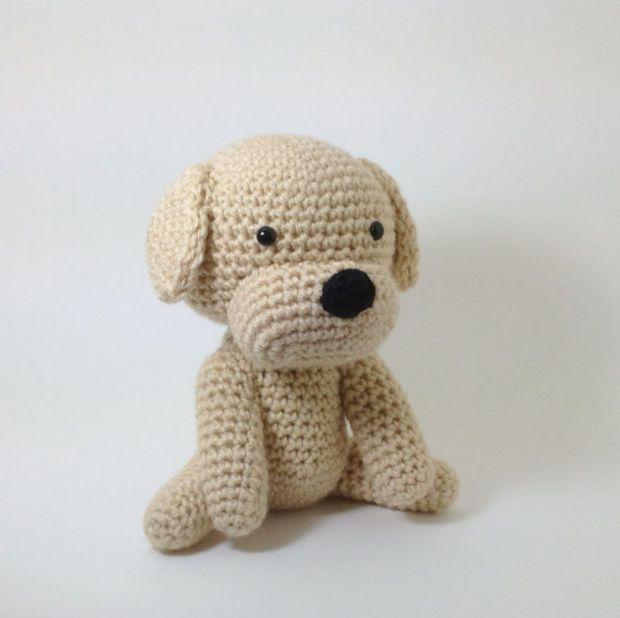 Dog Stuffed Animal Amigurumi Puppy Crochet Dog Large Size Labrador ...