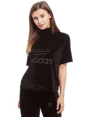 adidas Originals Velvet High Neck T Shirt | JD Sports