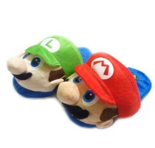 Super Mario Brothers Cartoon Warm Shoes Plush Slippers 1-X One Size Fit All 7440f2f477a0