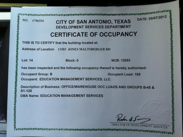 We officially got our Certificate of Occupancy for our new San ...