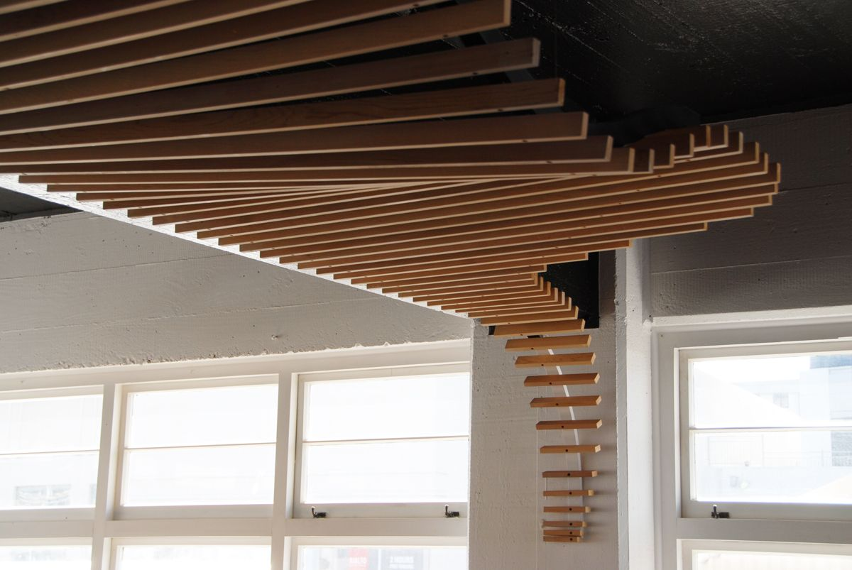 An Organic Fluidity Inspired Suspended Ceiling Feature In A
