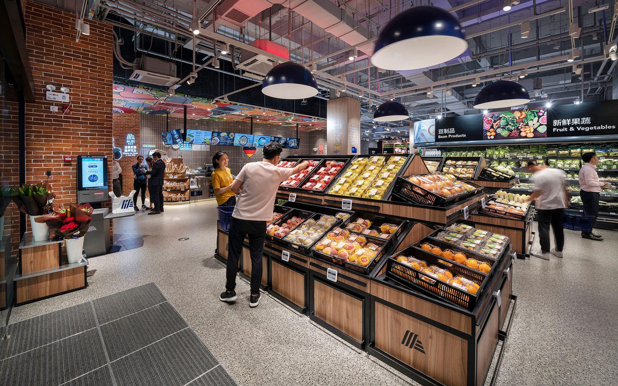 Aldi shanghai echochamber in 2020 supermarket design