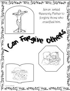 Coloring pages about forgiveness ~ CtR 4/ sunbeams- lesson 30 I can forgive others- folder ...