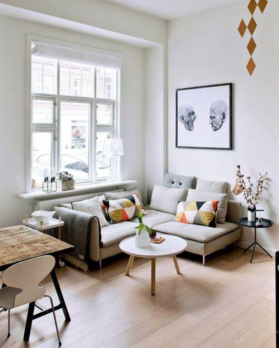 Ideas para aprovechar al máximo una sala pequeña - Colores Muebles y ...