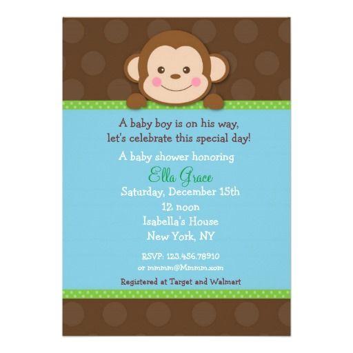 Monkey baby shower invitations boy monkey baby shower invitations monkey baby shower invitations boy filmwisefo