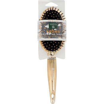 Earth Therapeutics Hair Brush Cushion Krome Metallic Gold 1 Count