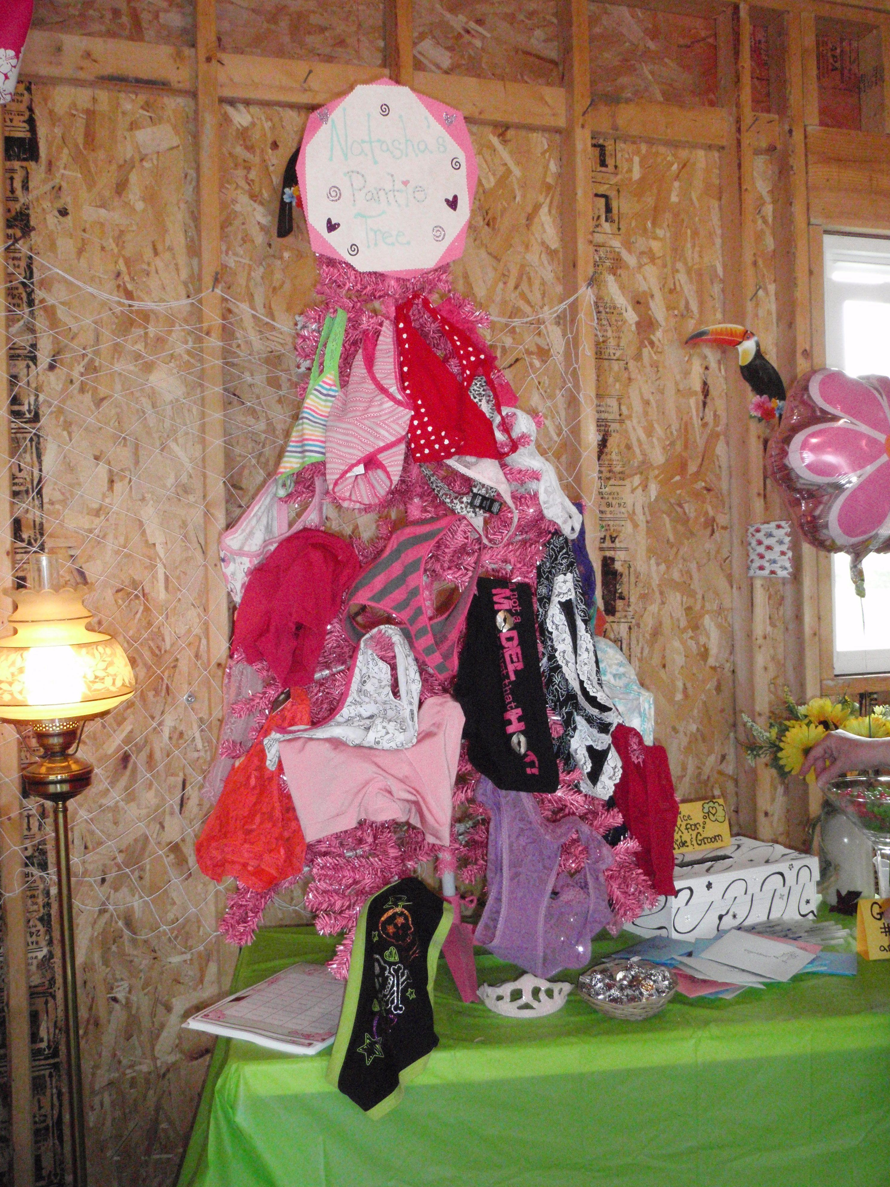 Bridal shower panty tree My bridesmaids had guests each bring a
