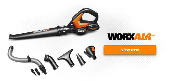 Worx Air 20V Blower and Sweeper with Clean Zone Kit