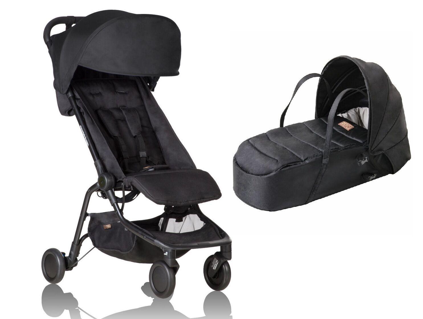 open box Mountain Buggy Nano Bundle Stroller /& Cocoon in Black NEW!