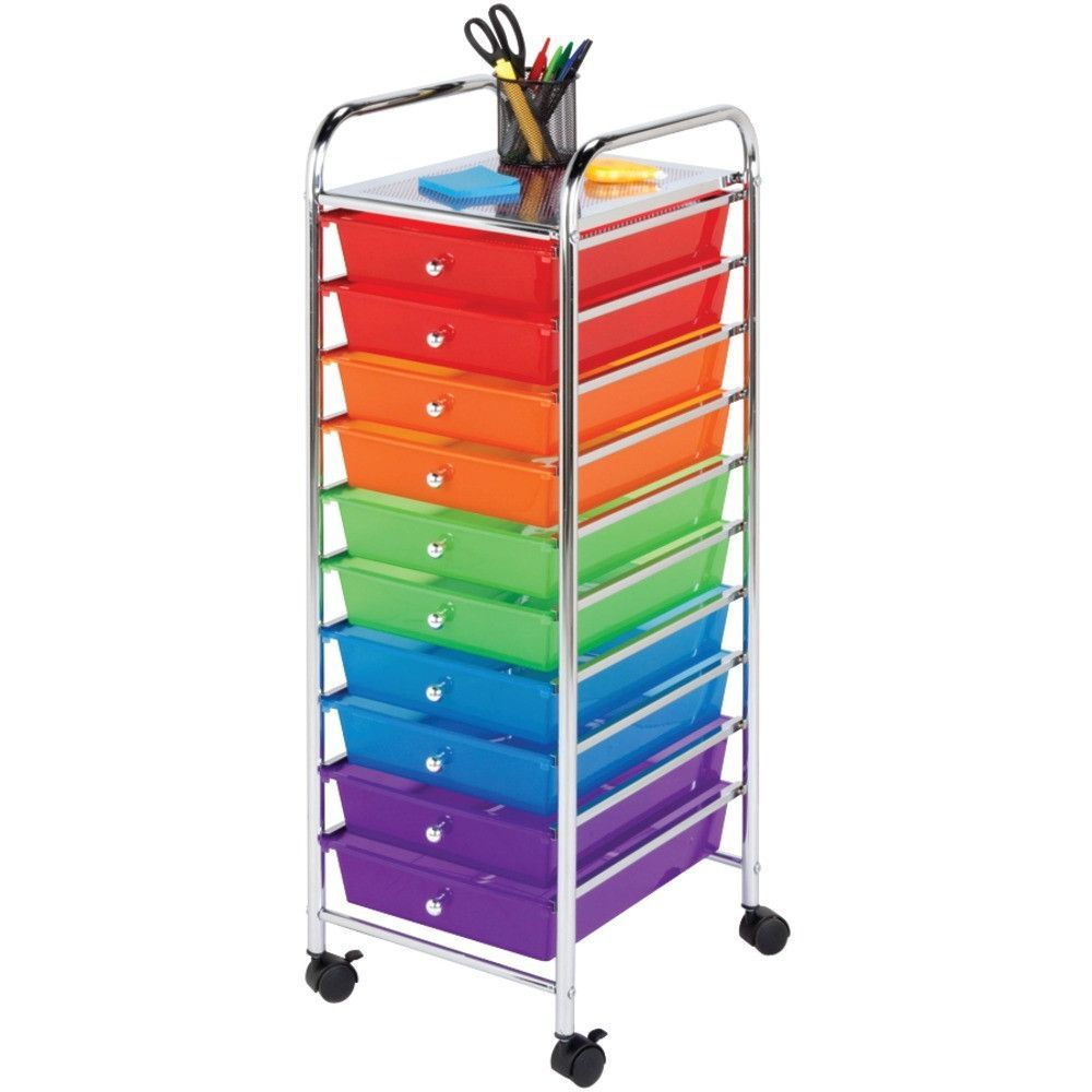 HONEY CAN DO CRT 02214 10 Drawer Rolling Storage Cart