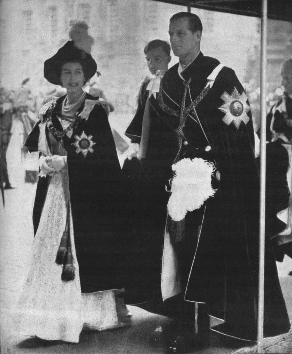 1953 Order of the Garter Service Royal family trees