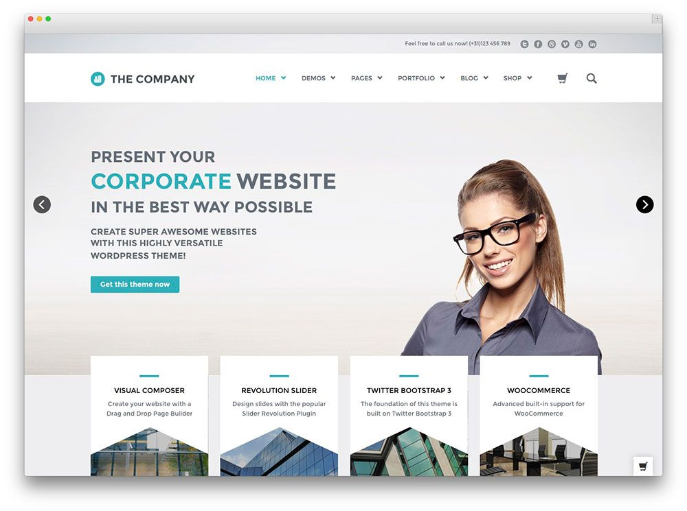 The company wordpress theme blog themes pinterest wordpress wordpress templates for business best wordpress corporate business themes of 2017 colorlib accmission Image collections