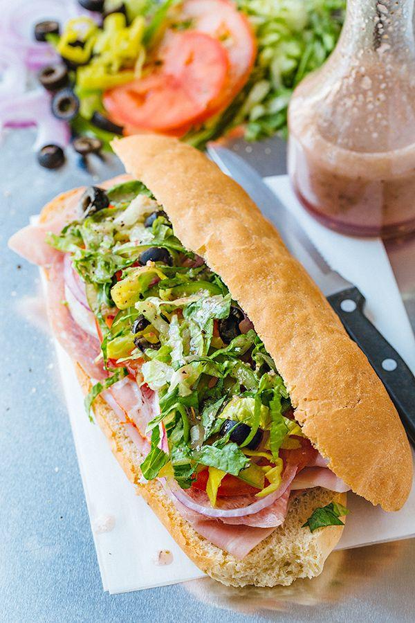 Italian Sub Recipe Cold Sandwiches Food Italian Sub