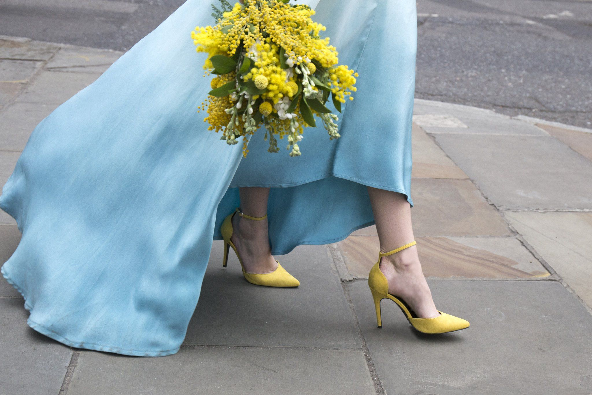 Blue Dip dye boho style wedding dress \'Lola\' by Lucy Can\'t Dance ...