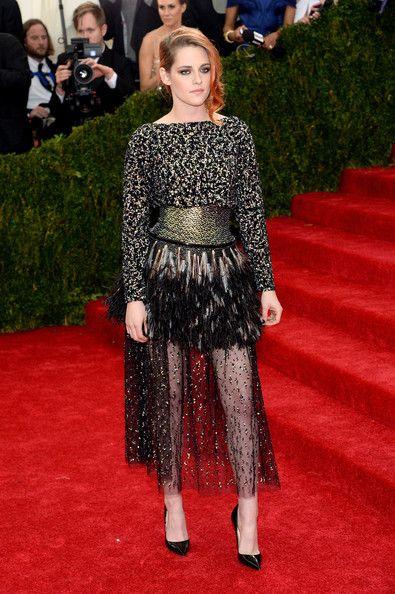 Kristen arriving at the Met Gala