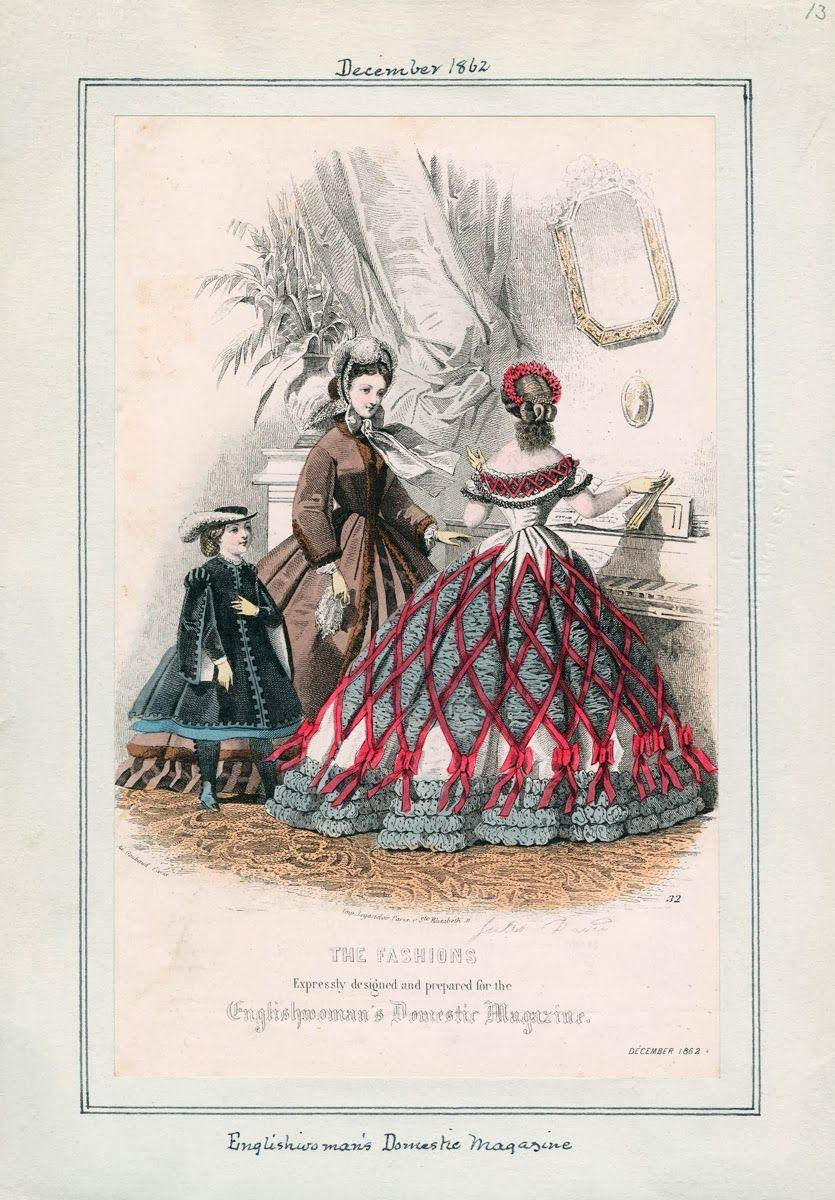 December, 1862 - Englishwoman's Domestic Magazine // see above: June, 1862 - Le Moniteur de la Mode