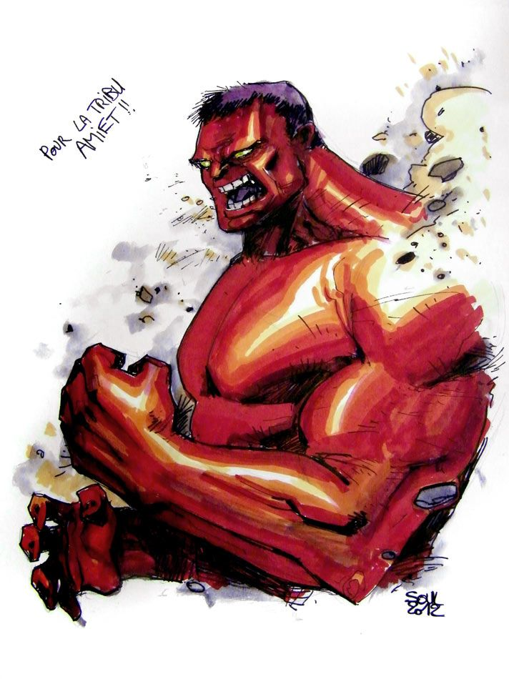 #Red #Hulk #Fan #Art. (RED HULK) By: Soul-the-Awkward. (THE * 3 * STÅR * ÅWARD OF: AW YEAH, IT'S MAJOR ÅWESOMENESS!!!™)[THANK Ü 4 PINNING!!!<·><]<©>ÅÅÅ+(OB4E)    https://s-media-cache-ak0.pinimg.com/564x/e5/e3/f6/e5e3f68e7d8c2102c5283de00d622e3b.jpg