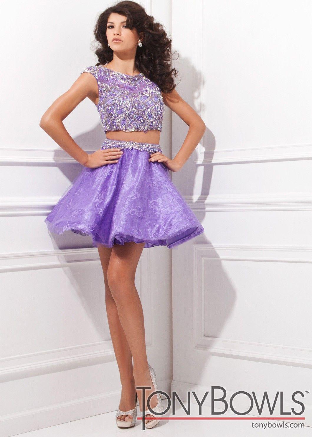 bc70842eed Tony Bowls Shorts TS11485 Lace 2-Piece Dress