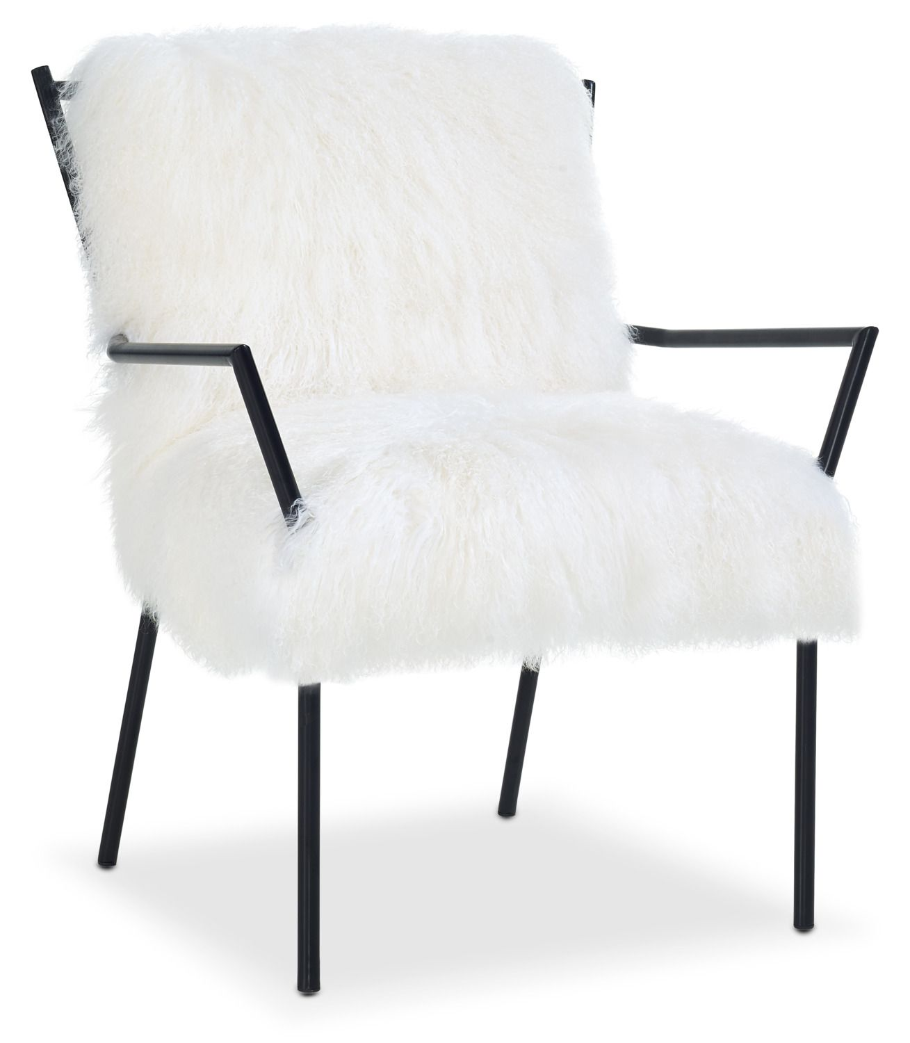 Accent and Occasional Furniture - Lara Accent Chair - Black and ...