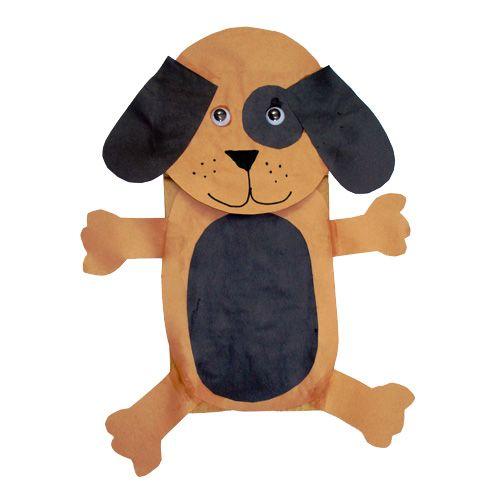 dog paper bag puppet.
