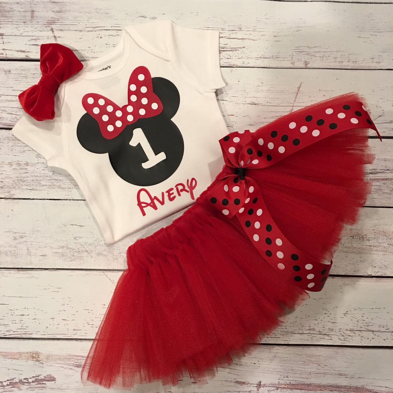 1 Yaş Kırmızı Minnie Mouse Tütü Elbise - http://tutumodelleri.net/1 ...