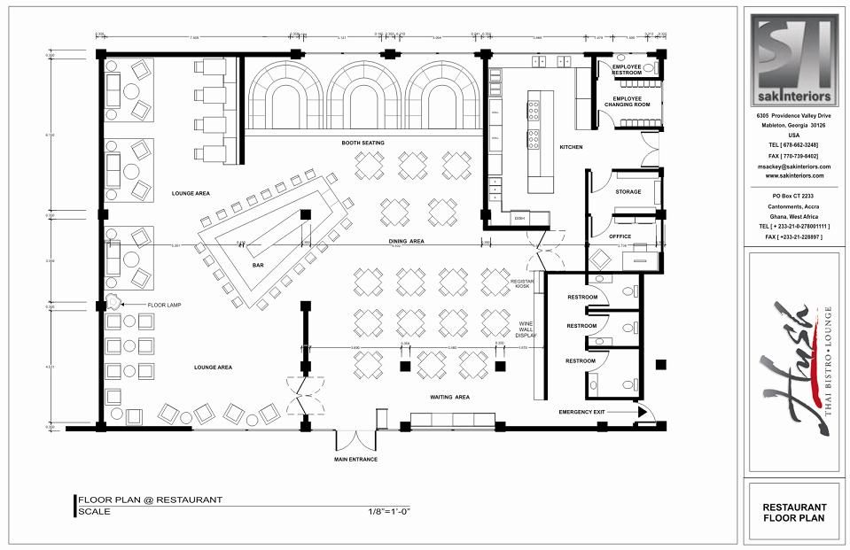 Restaurant layout floor plan hospitality design