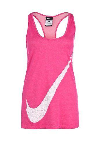 37.98 nice Nike Womens Nike Swoosh Sleeveless Tank Top-Pink White ... e0b16d392a