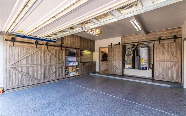 Garage garage storage installed by