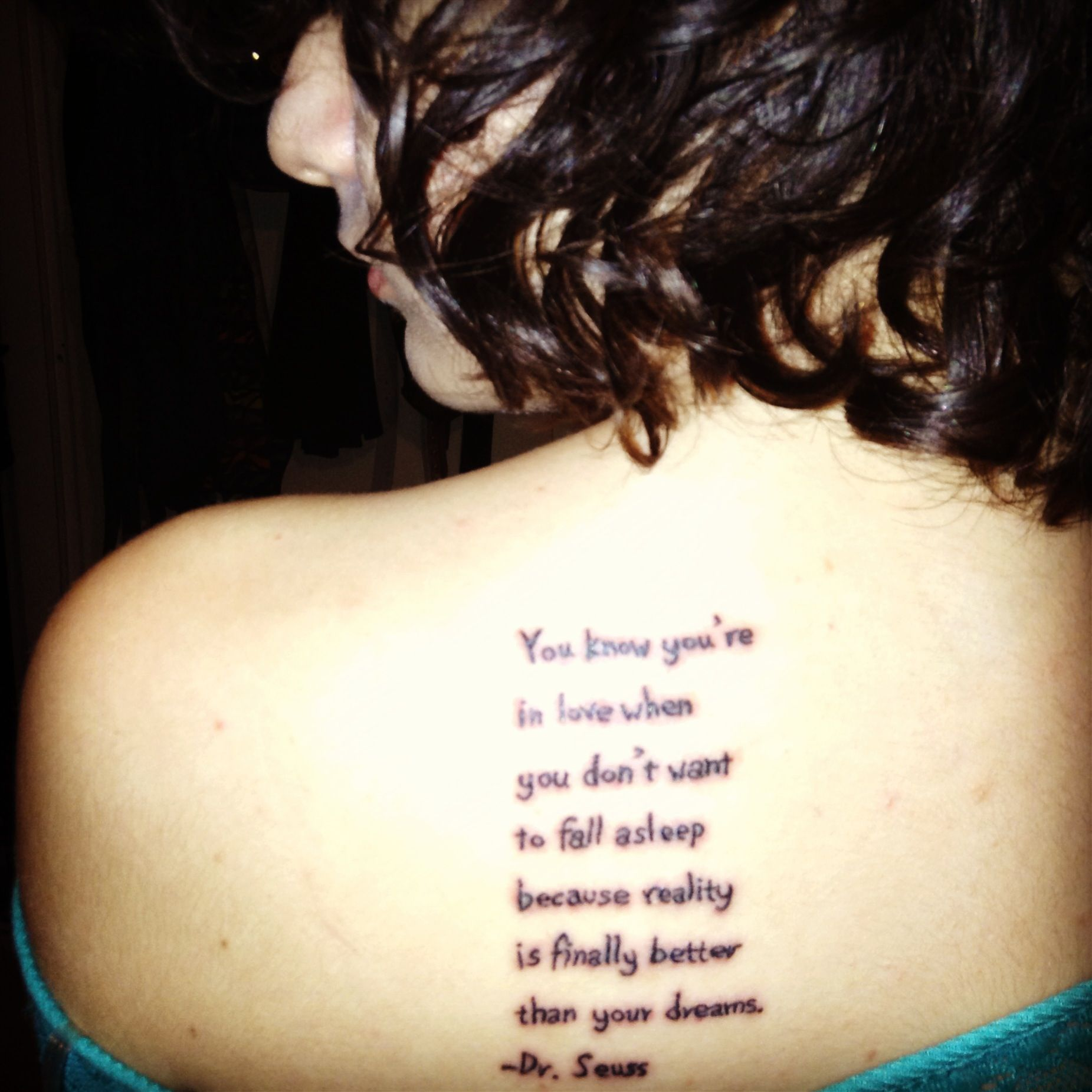 My First Tattoo. You Know You're In Love When You Don't