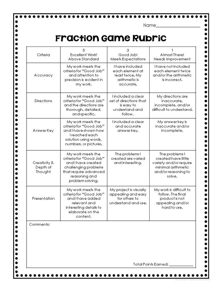 rubric project based learning 5th grade fractions News to Go 2 - rubrics for project based learning