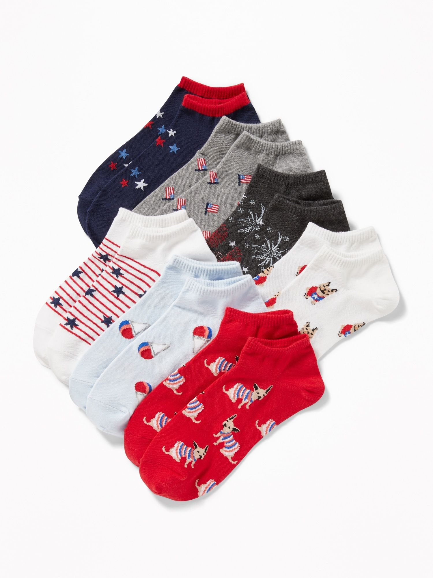 b261c33ccb4 Printed Ankle Socks 7-Pack for Women in 2019